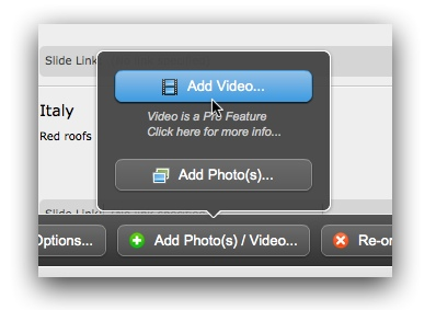 Add Video Button