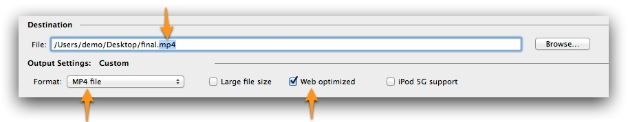 Handbrake settings